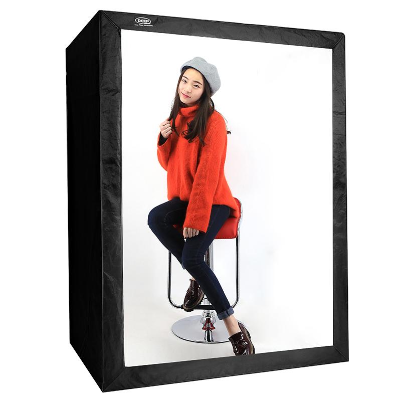 DEEP专业LED服装人像拍摄棚柔光箱摄影灯箱160CM摄影棚套装照器材